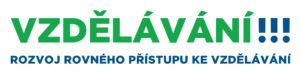 Logo projektu Vzdělávání - rozvoj rovného přístupu ke vzdělávání